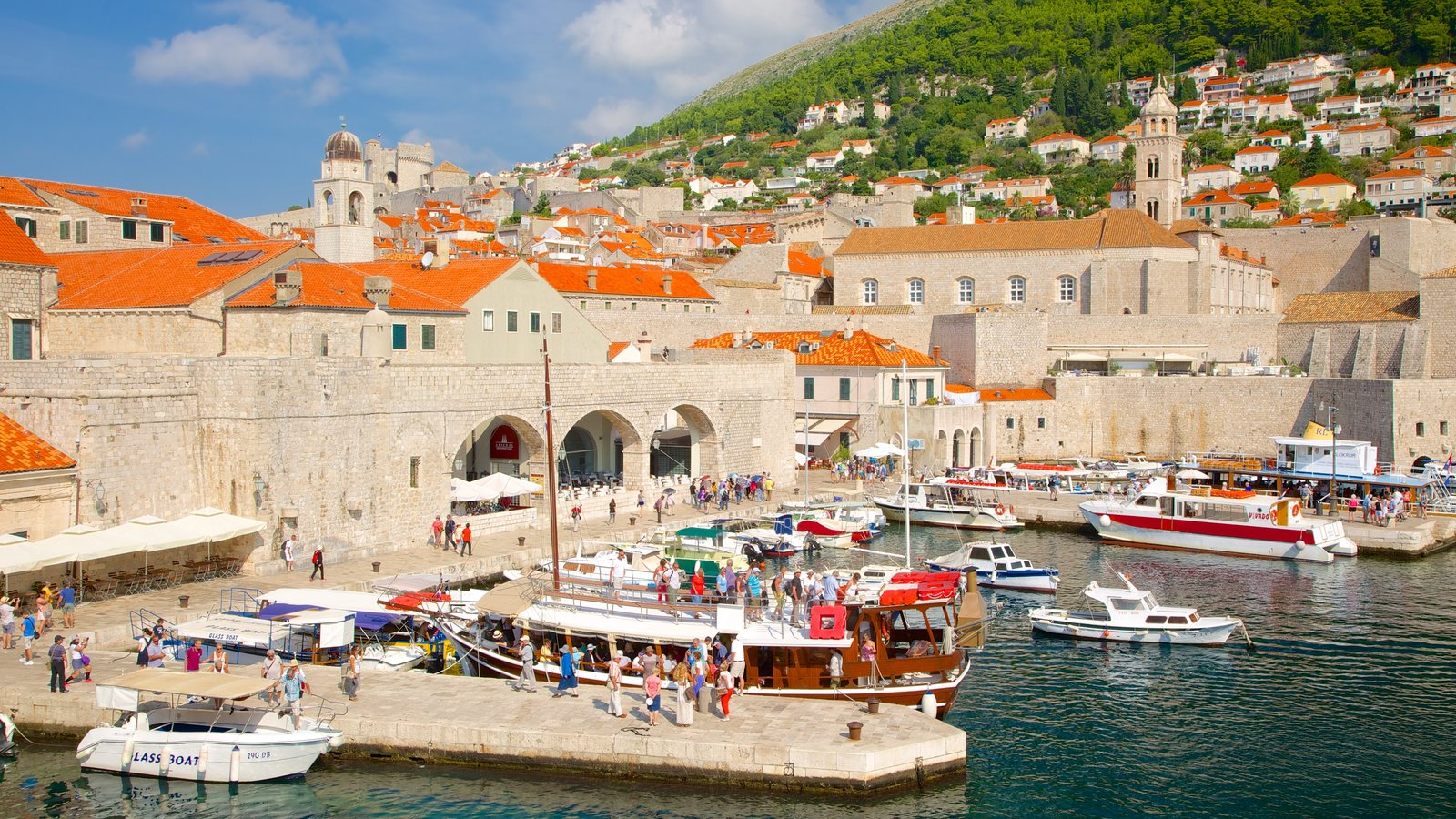 Dubrovnik - Southern Dalmatia which includes heritage architecture, a coastal town and a bay or harbor