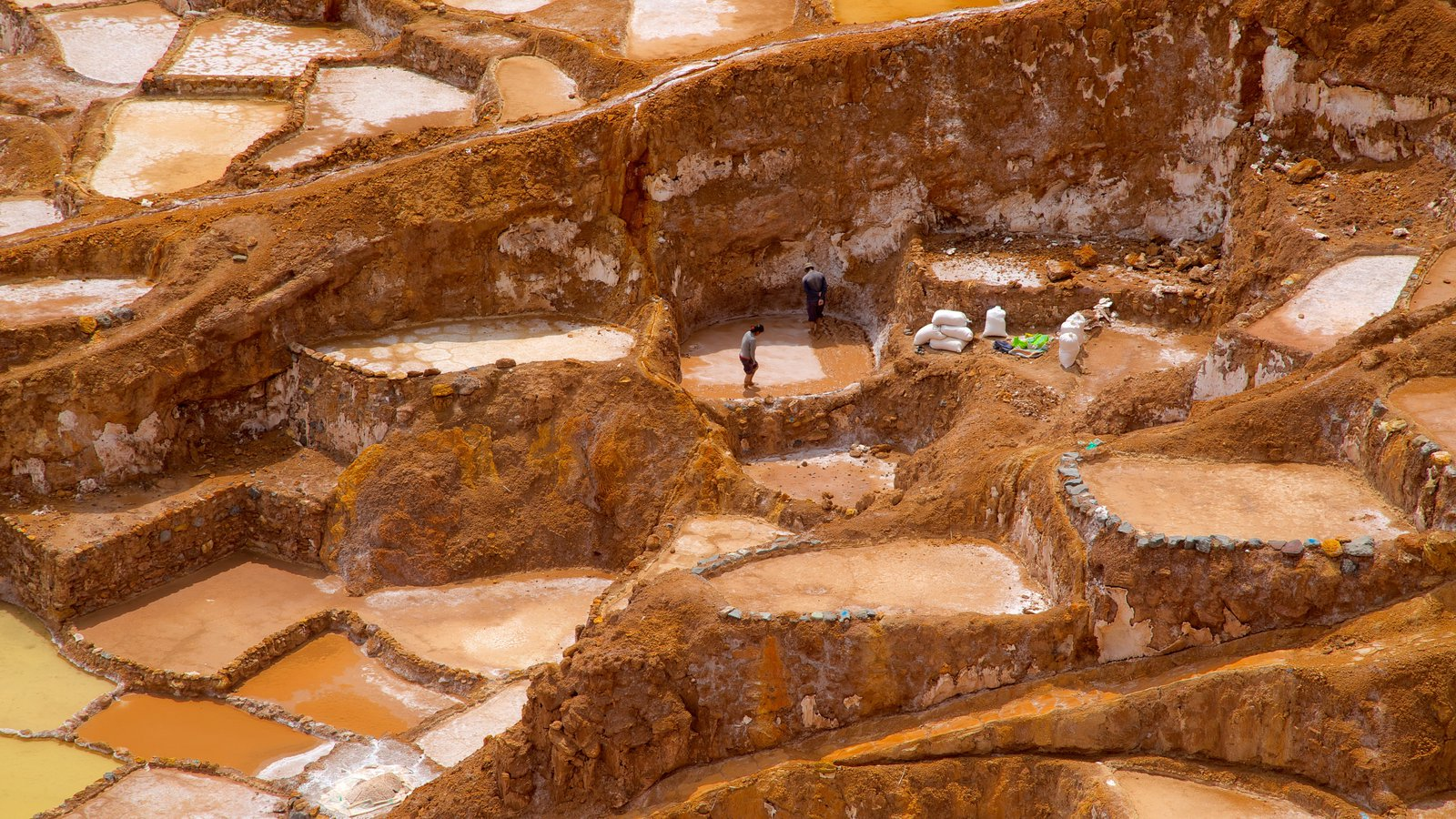 Salt Mines Of Maras which includes tranquil scenes