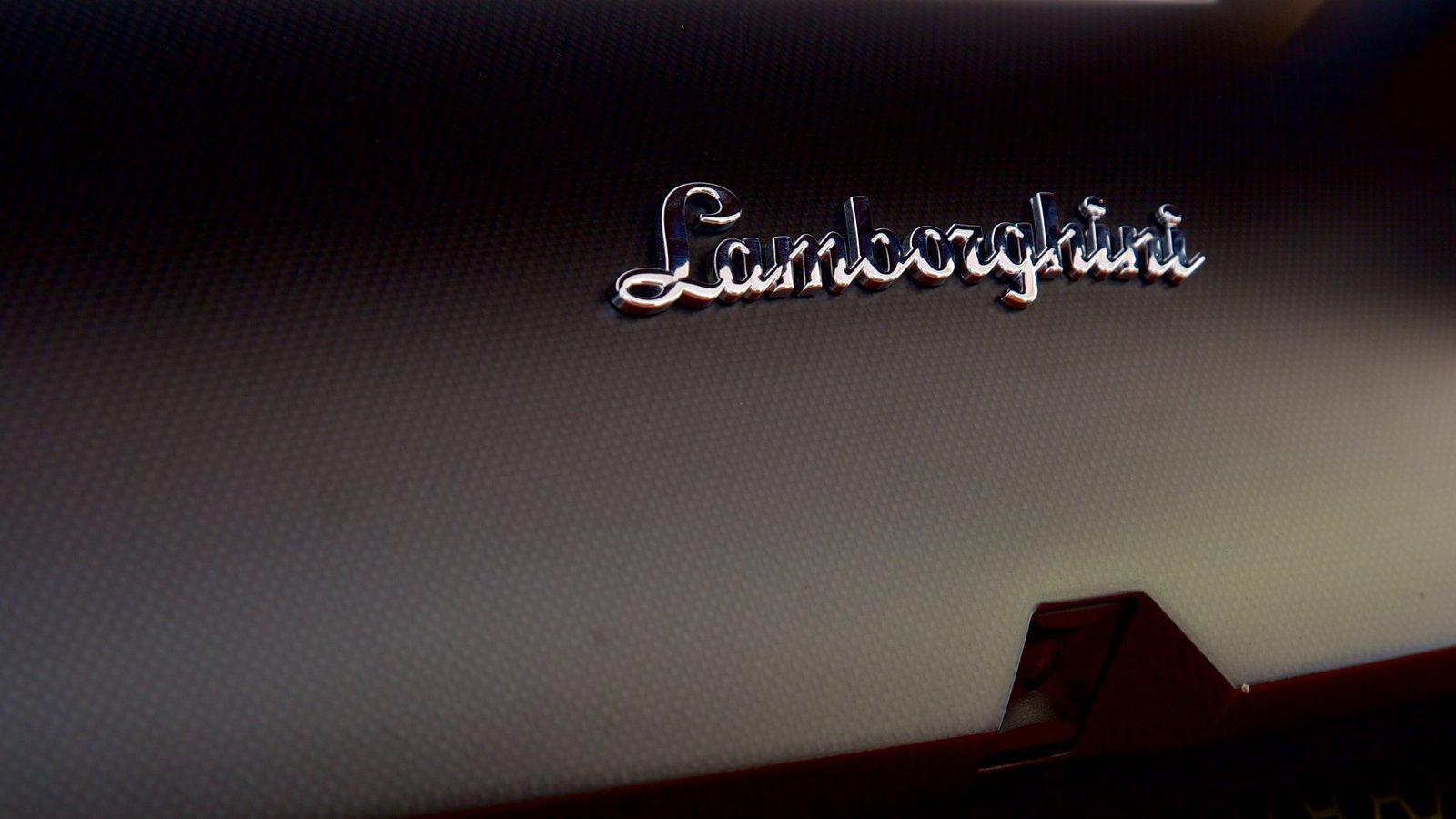 Lamborghini Museum which includes signage