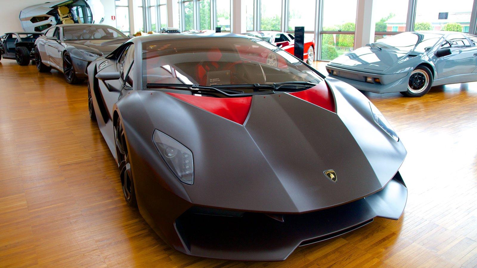 Lamborghini Museum showing interior views