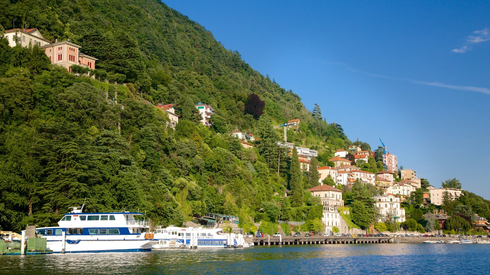 Como showing a bay or harbor, boating and a coastal town