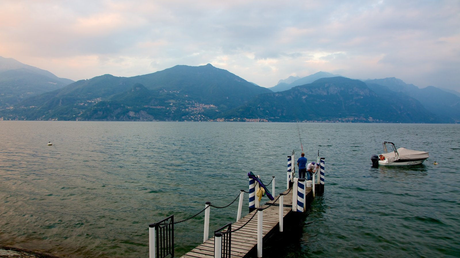 Menaggio which includes fishing, general coastal views and boating