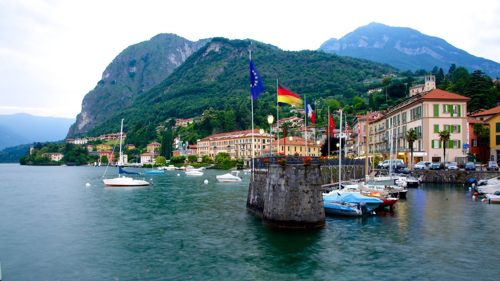 Menaggio which includes a marina, general coastal views and a coastal town
