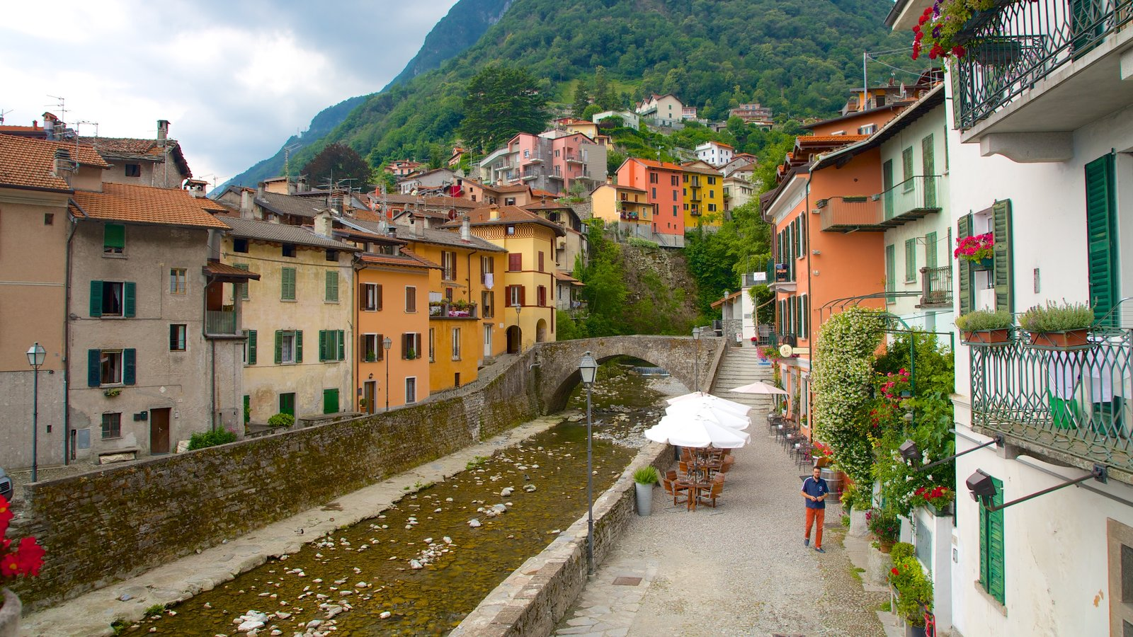 Argegno which includes a small town or village