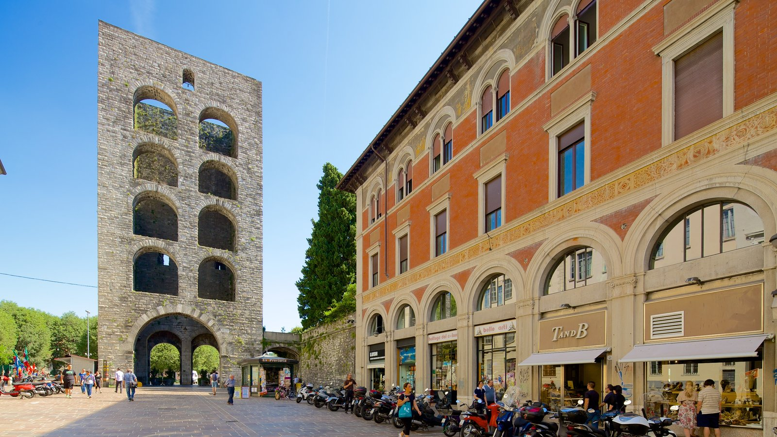 Piazza Vittoria which includes heritage architecture and a square or plaza