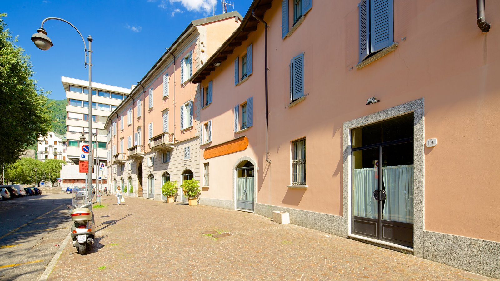 Piazza Vittoria which includes heritage architecture and a small town or village