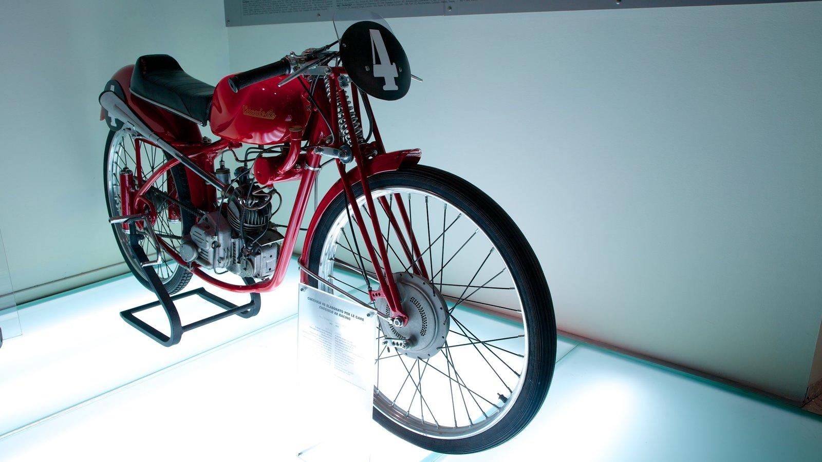 Ducati Museum featuring interior views