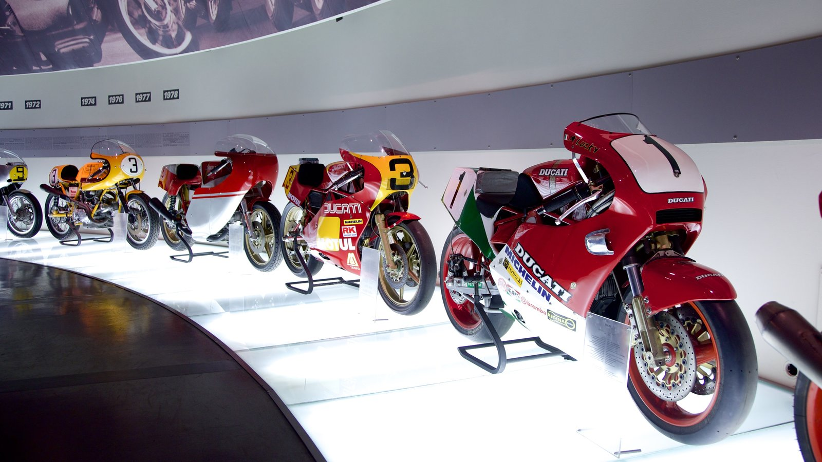 Ducati Museum which includes interior views