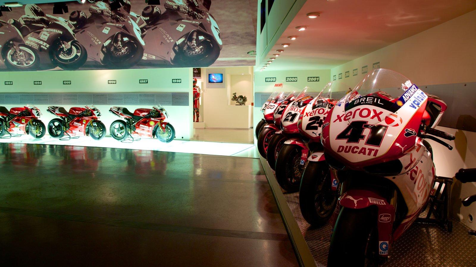 Ducati Museum showing interior views