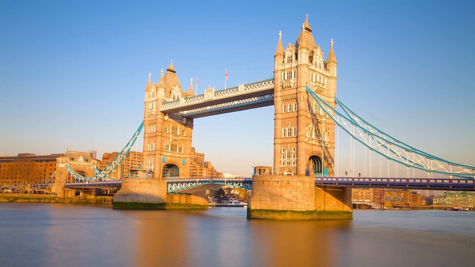 Tower Bridge featuring heritage architecture, a bridge and a bay or harbor