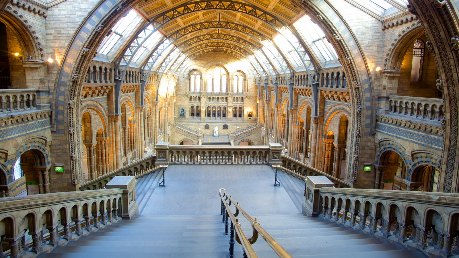 London Natural History Museum featuring heritage architecture, heritage elements and interior views