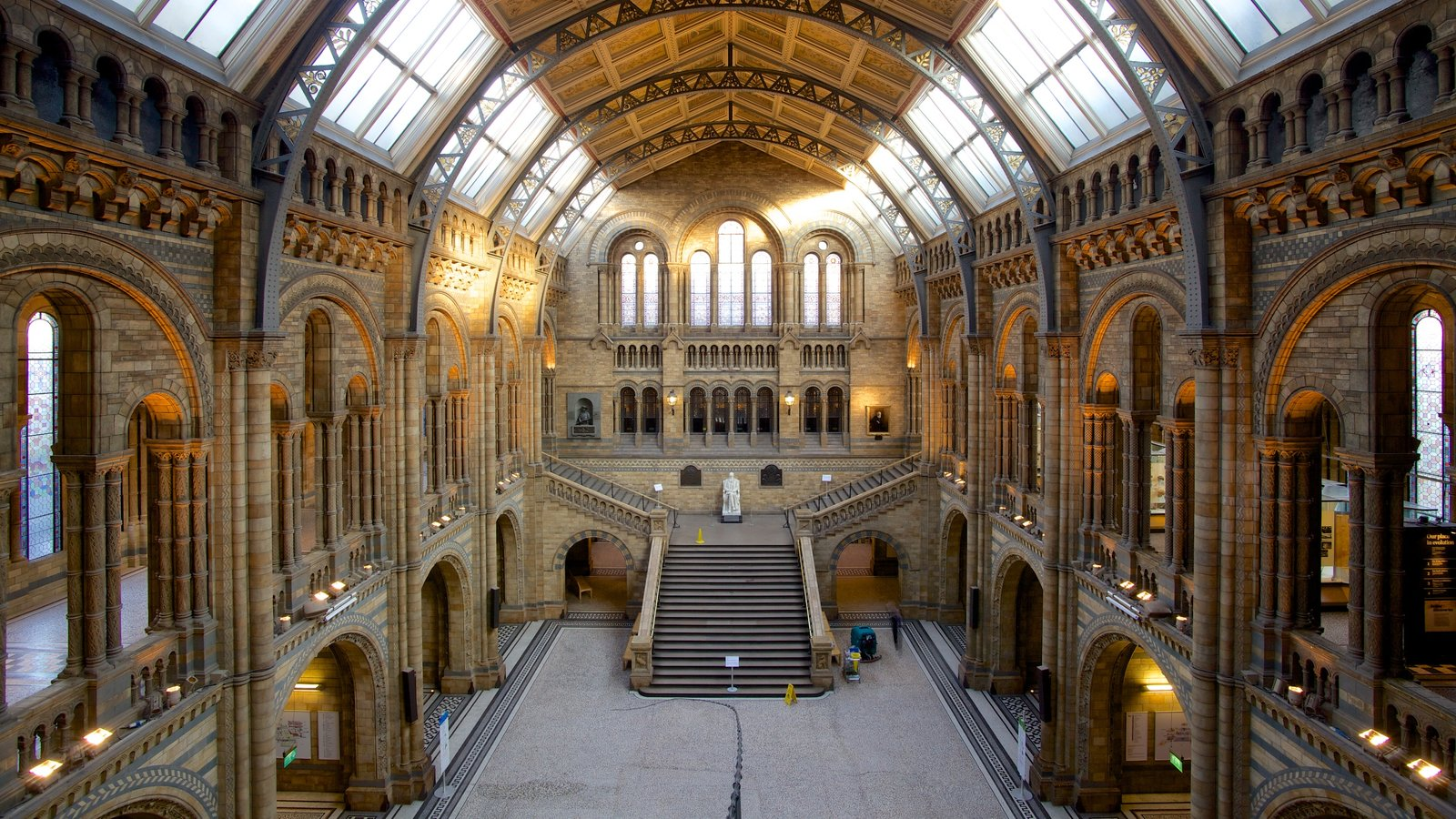 London Natural History Museum featuring interior views, heritage elements and heritage architecture