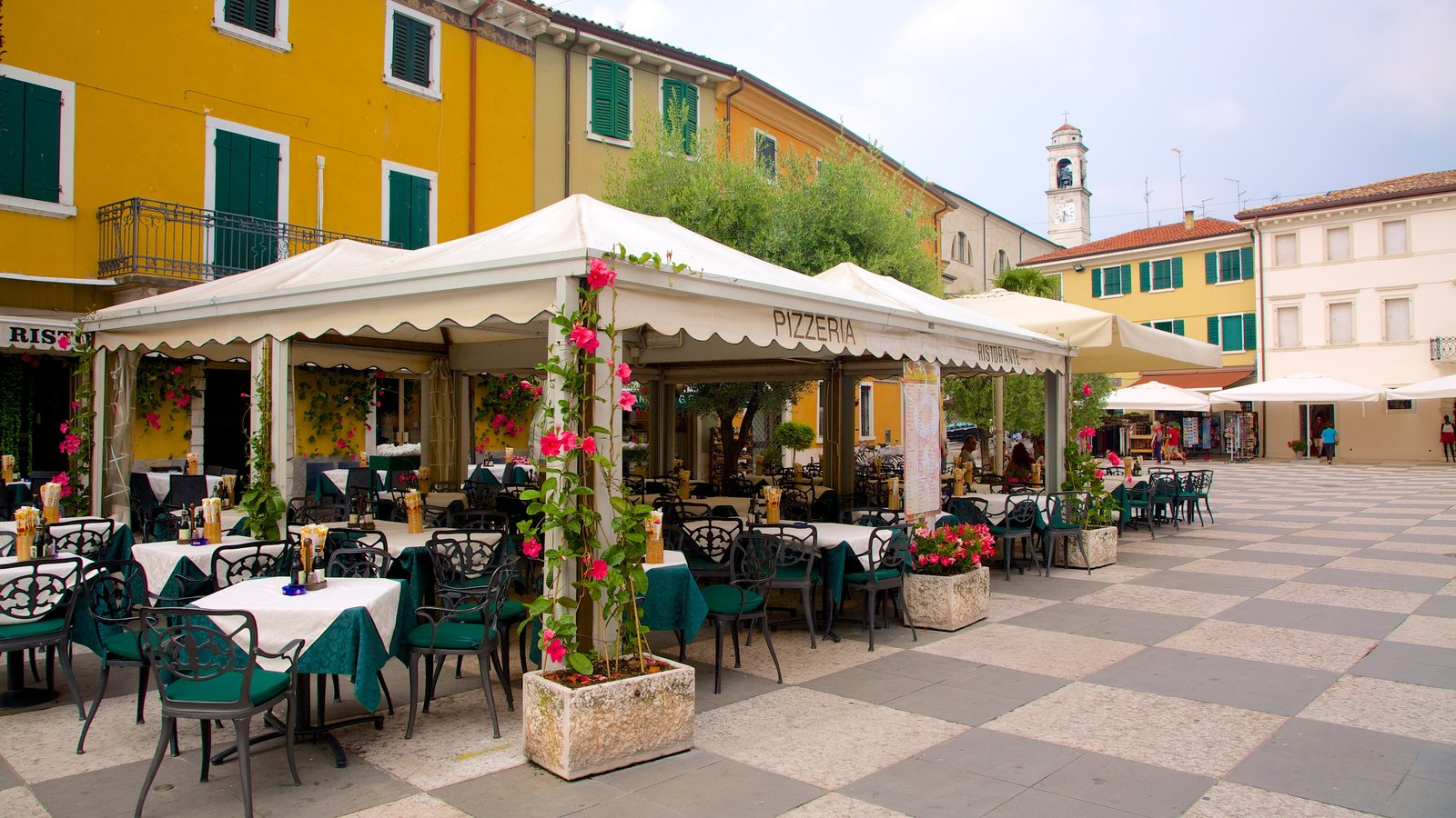 Lazise featuring a city and outdoor eating