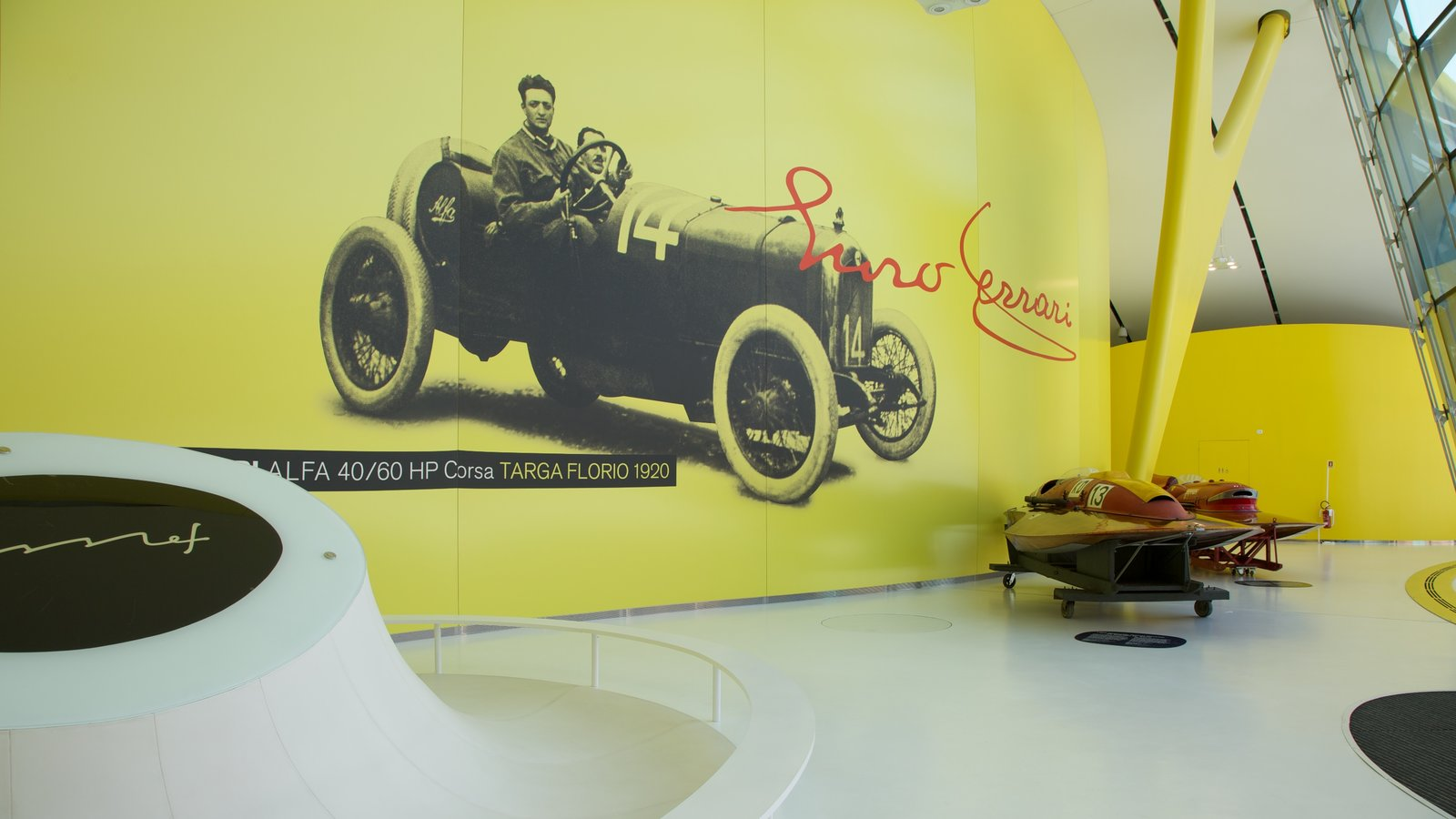 Museo Casa Enzo Ferrari showing interior views