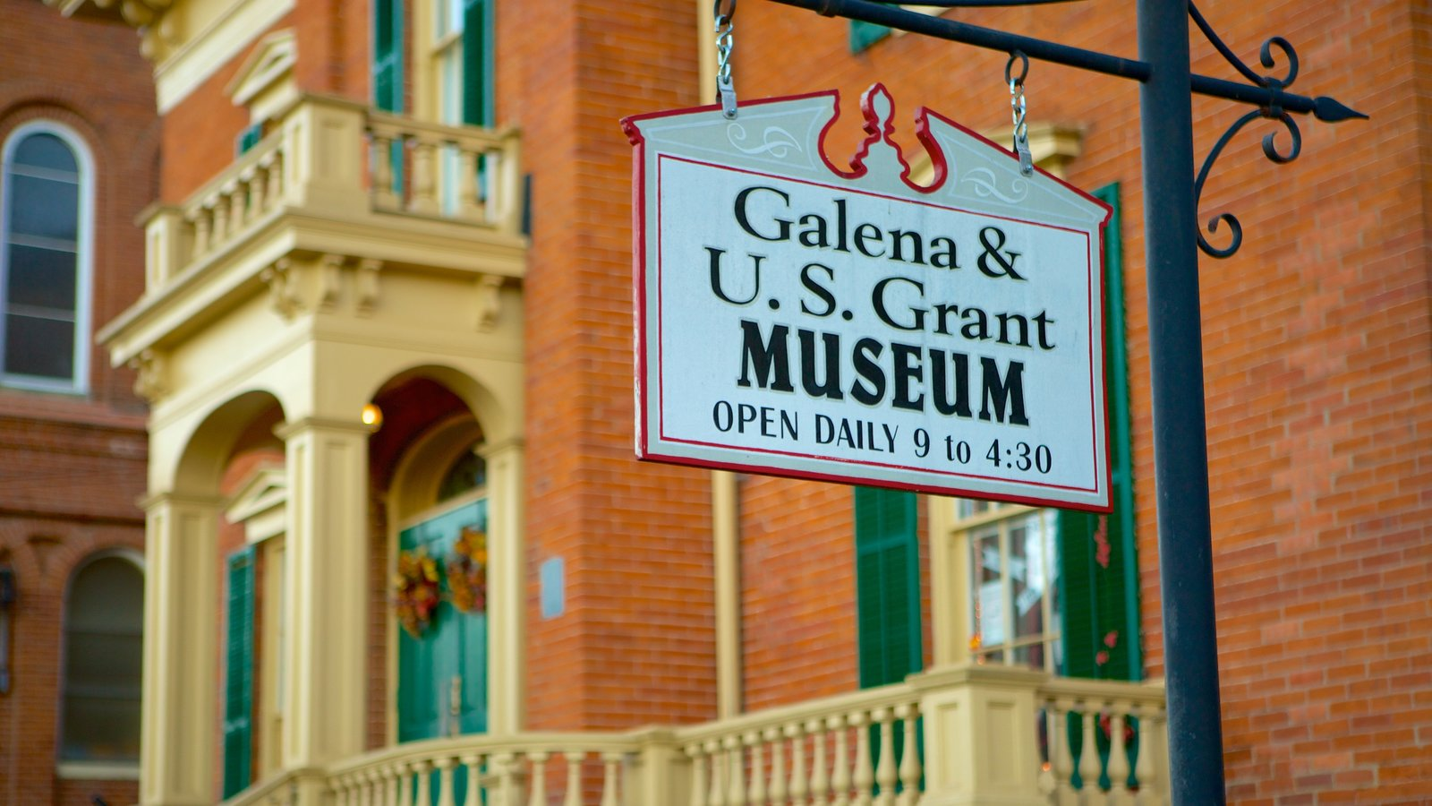 Galena featuring signage