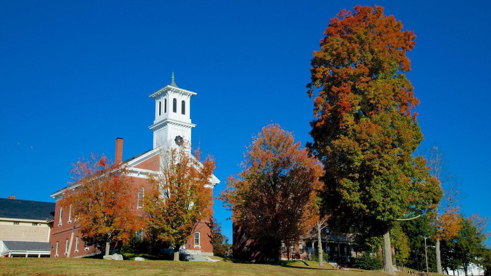 Bangor caracterizando cores do outono