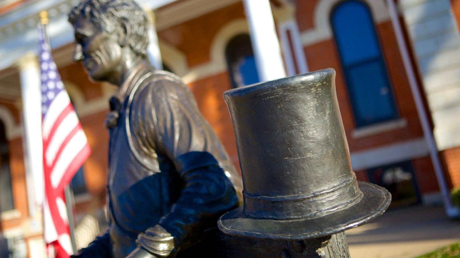 Pontiac que inclui uma estátua ou escultura