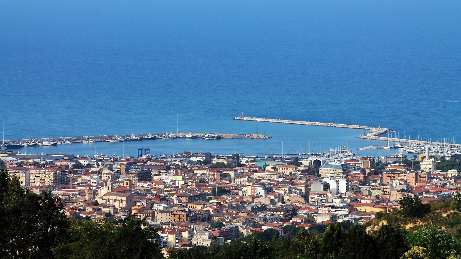 San Benedetto del Tronto which includes a city and general coastal views