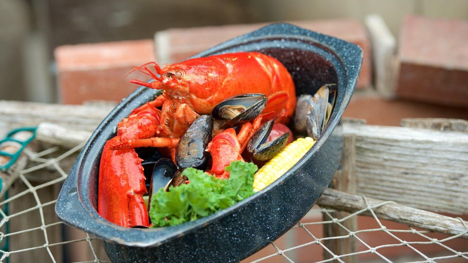 Parque Nacional Acadia ofreciendo comida