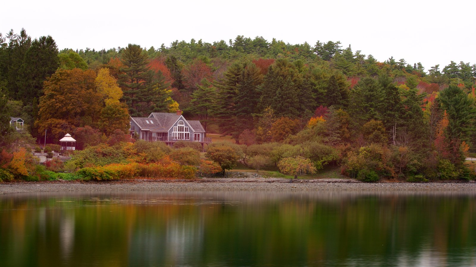 Acadia - North Coast featuring forests, a lake or waterhole and a house