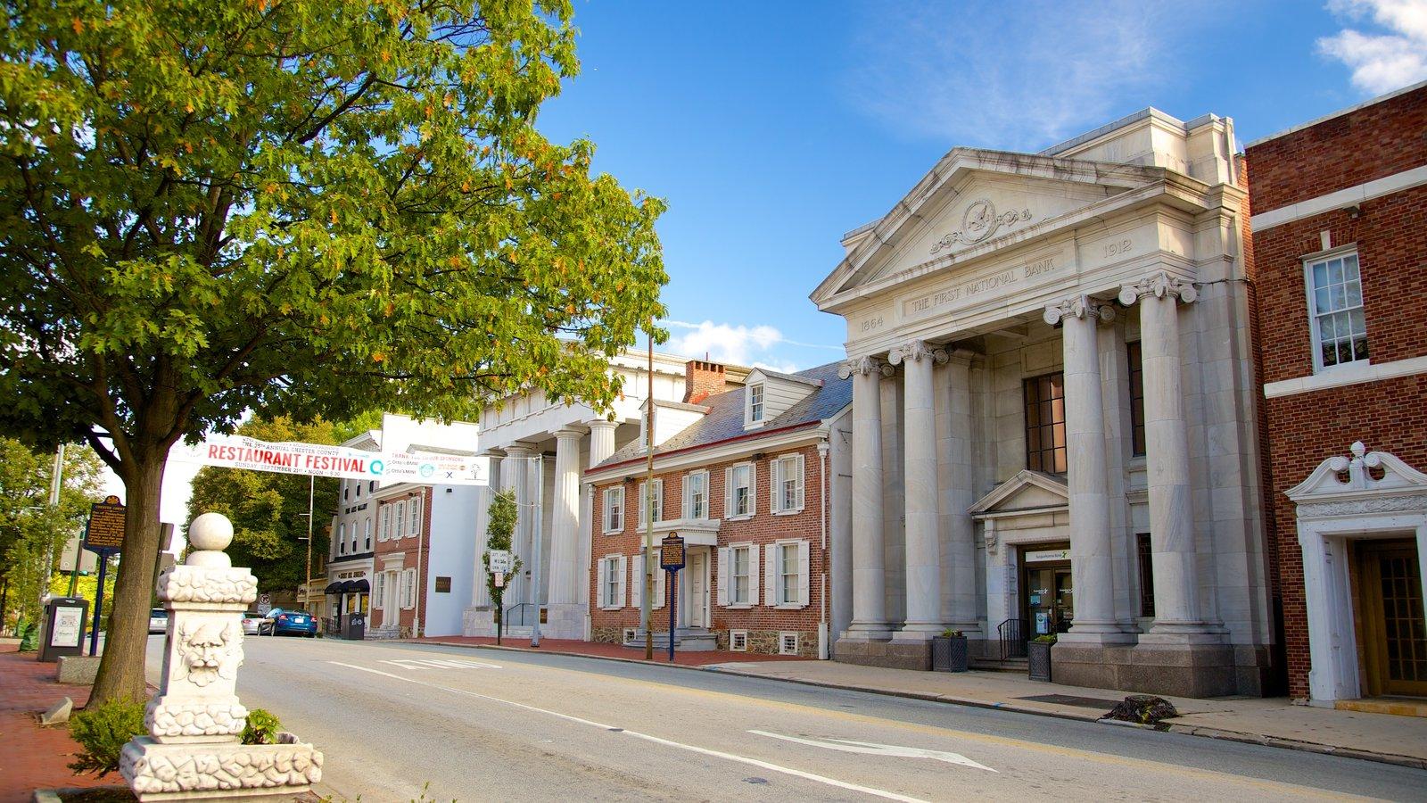 West Chester que incluye patrimonio de arquitectura
