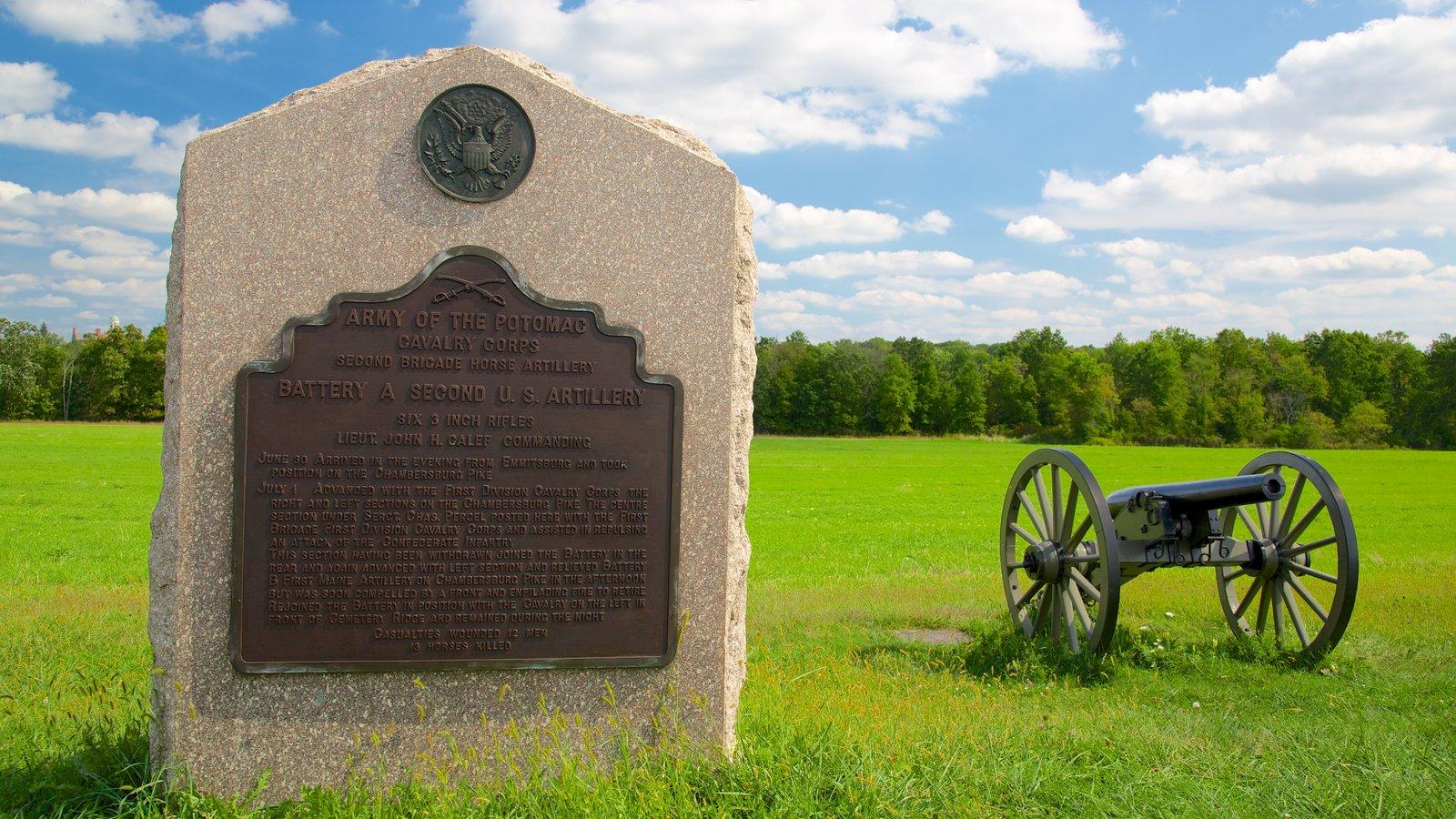 Gettysburg National Military Park mostrando um jardim