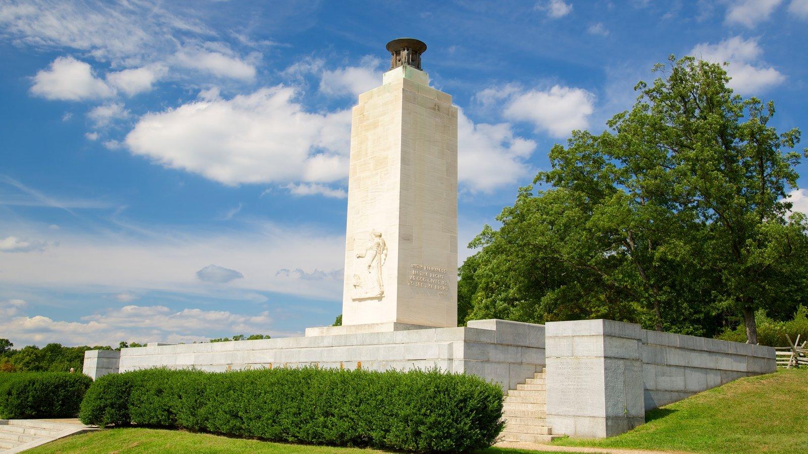 Gettysburg National Military Park que inclui elementos de patrimônio e um parque