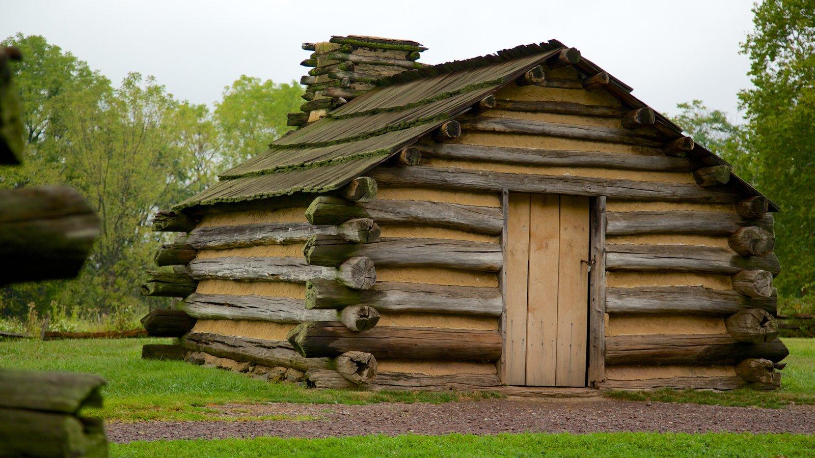 Valley Forge National Historic Park mostrando patrimonio de arquitectura