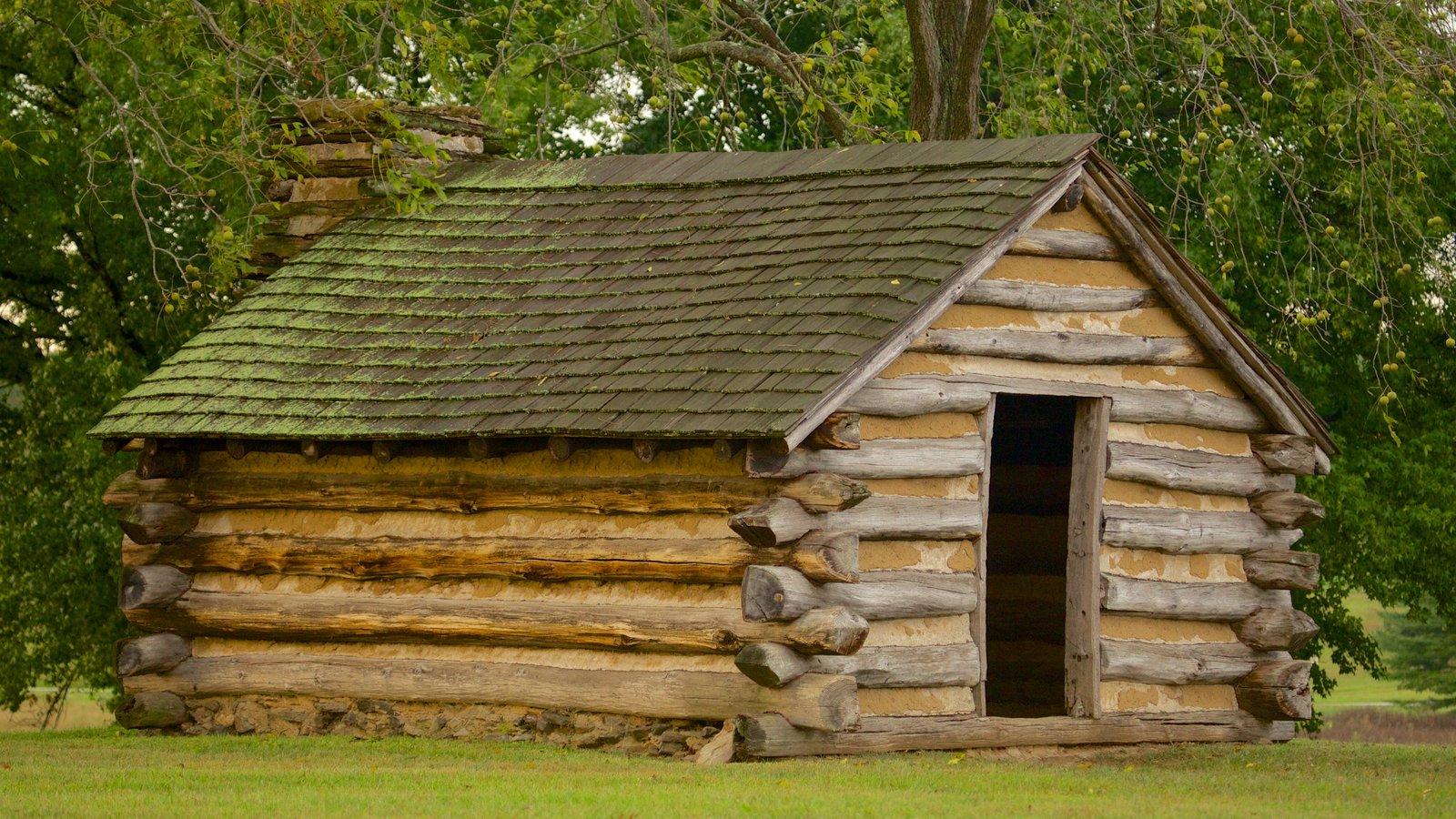 Parque Histórico Nacional de Valley Forge caracterizando arquitetura de patrimônio