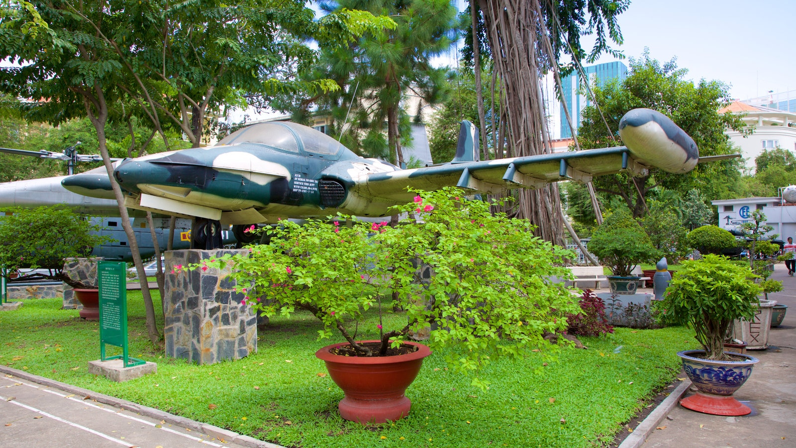 Ho Chi Minh City Museum featuring a park, aircraft and military items