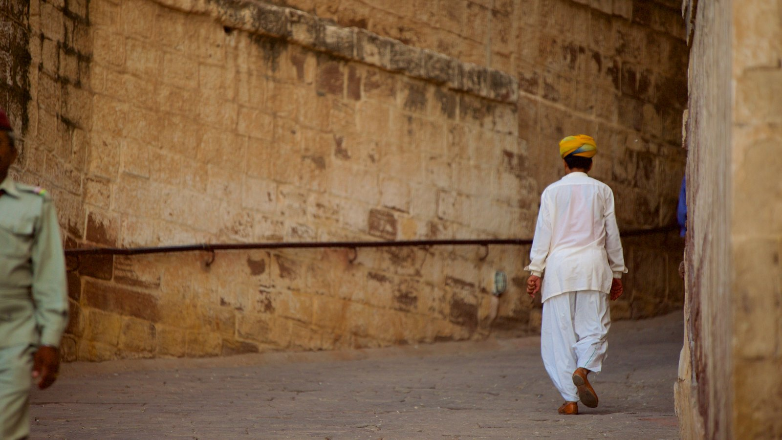 Mehrangarh Fort as well as an individual male