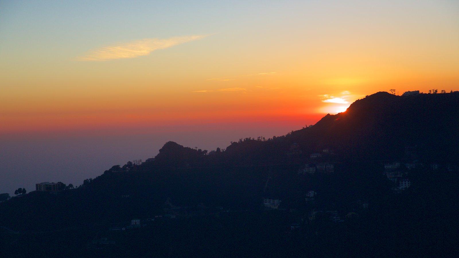 Gun Hill featuring a sunset