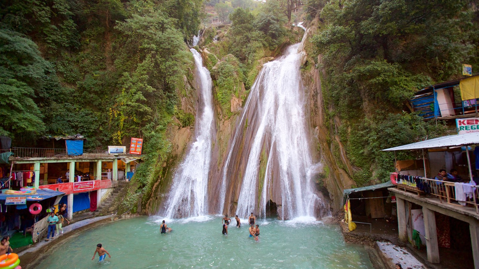 Dehradun which includes swimming, a waterfall and rainforest