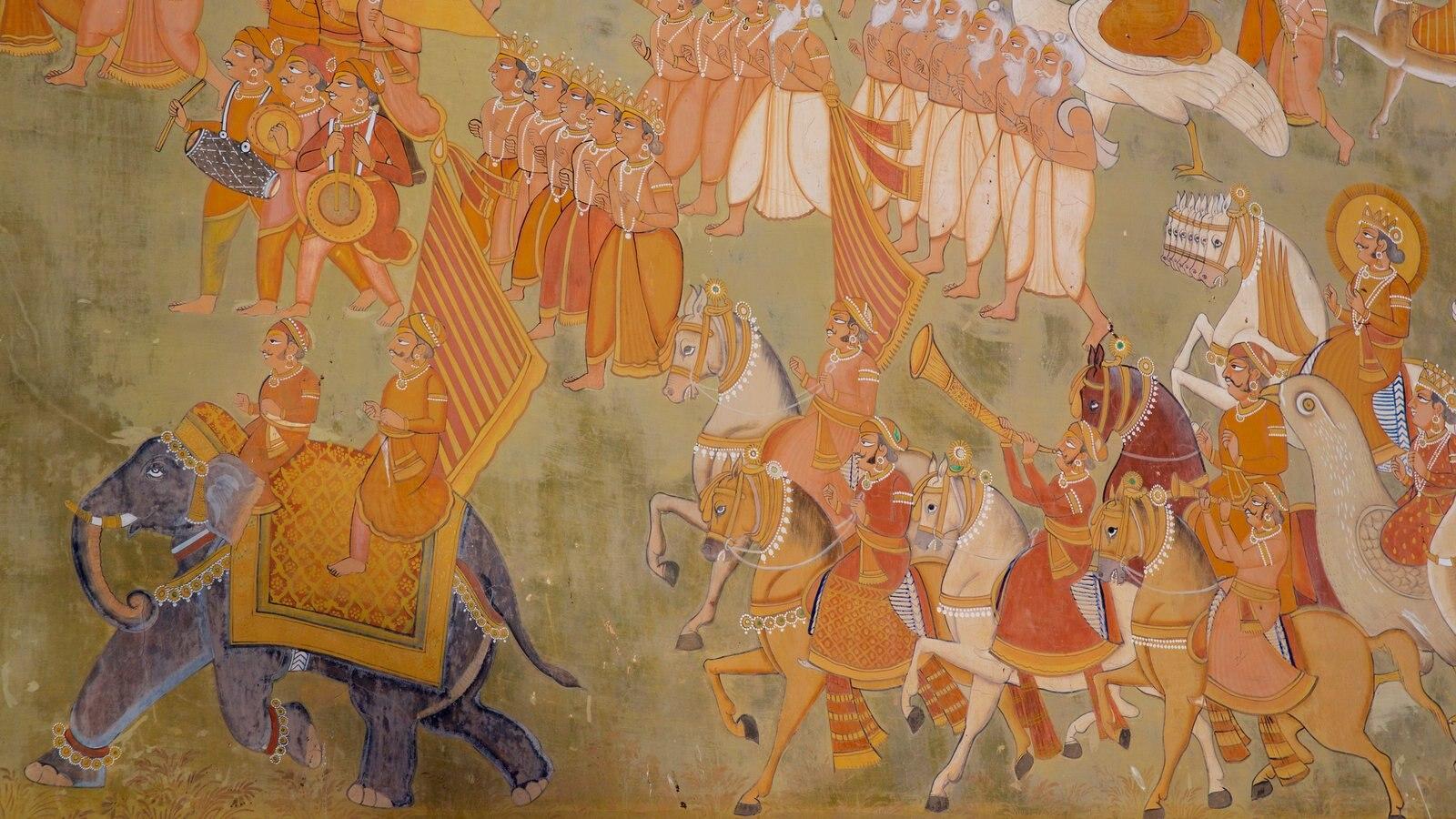 Mehrangarh Fort que incluye elementos del patrimonio y arte