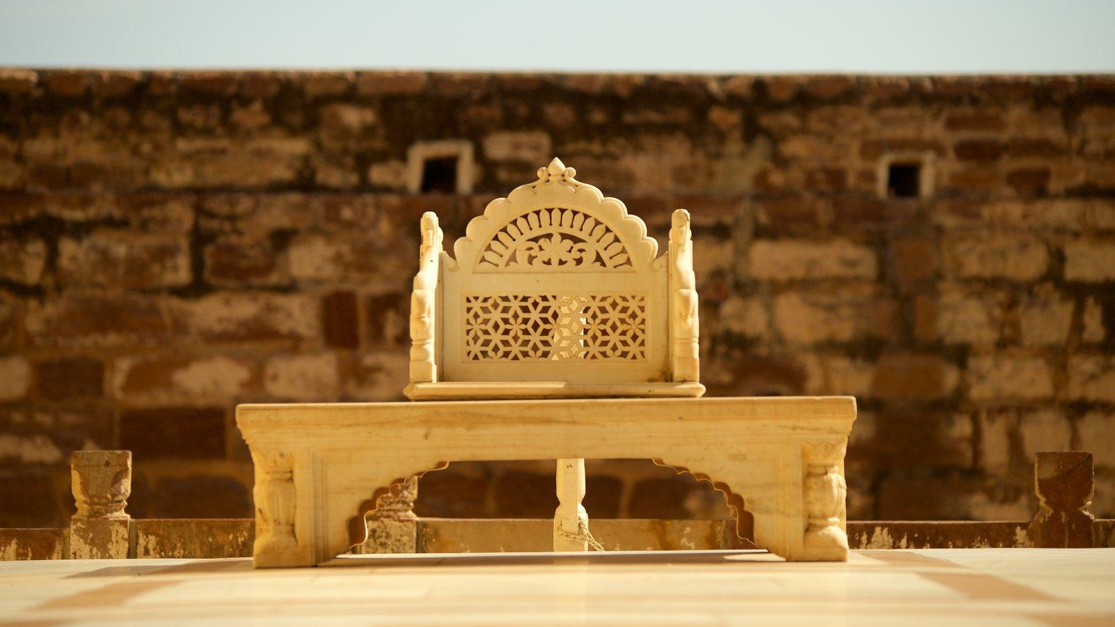 Mehrangarh Fort que incluye elementos del patrimonio