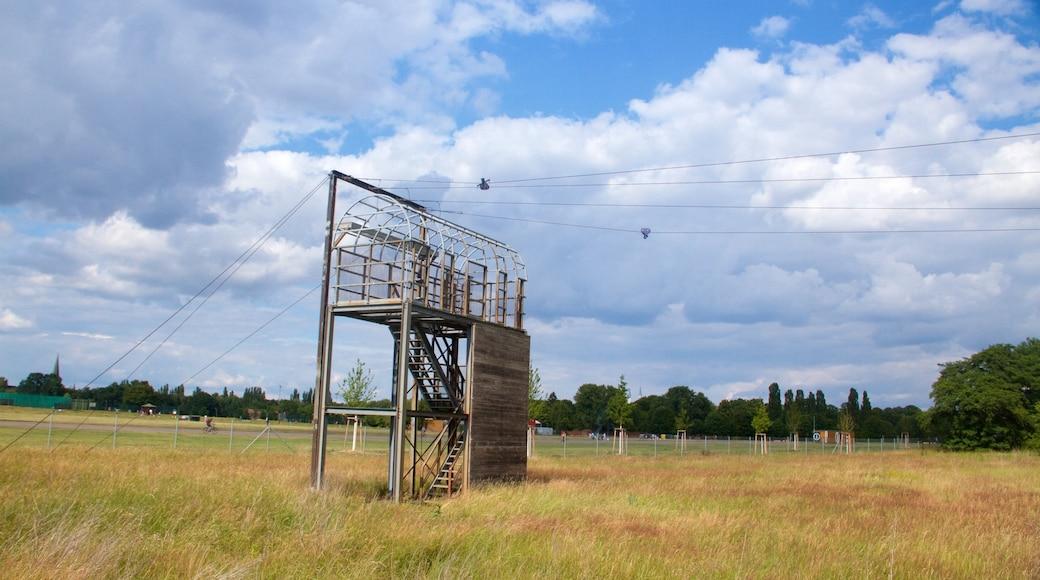 Parque Tempelhof ofreciendo escenas tranquilas