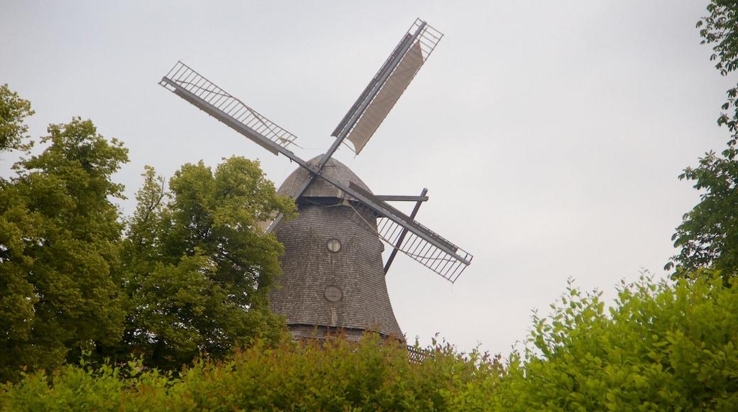 Sanssoucin puisto joka esittää tuulimylly