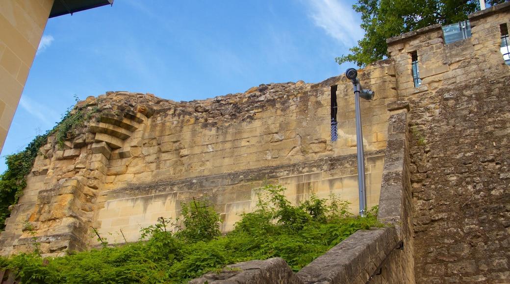 Castello di Valkenburg che include rovine di un edificio, castello e oggetti d\'epoca
