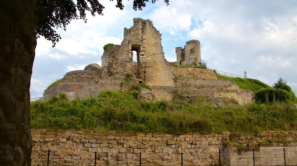 Castello di Valkenburg che include rovine di un edificio, castello o palazzo e oggetti d\'epoca