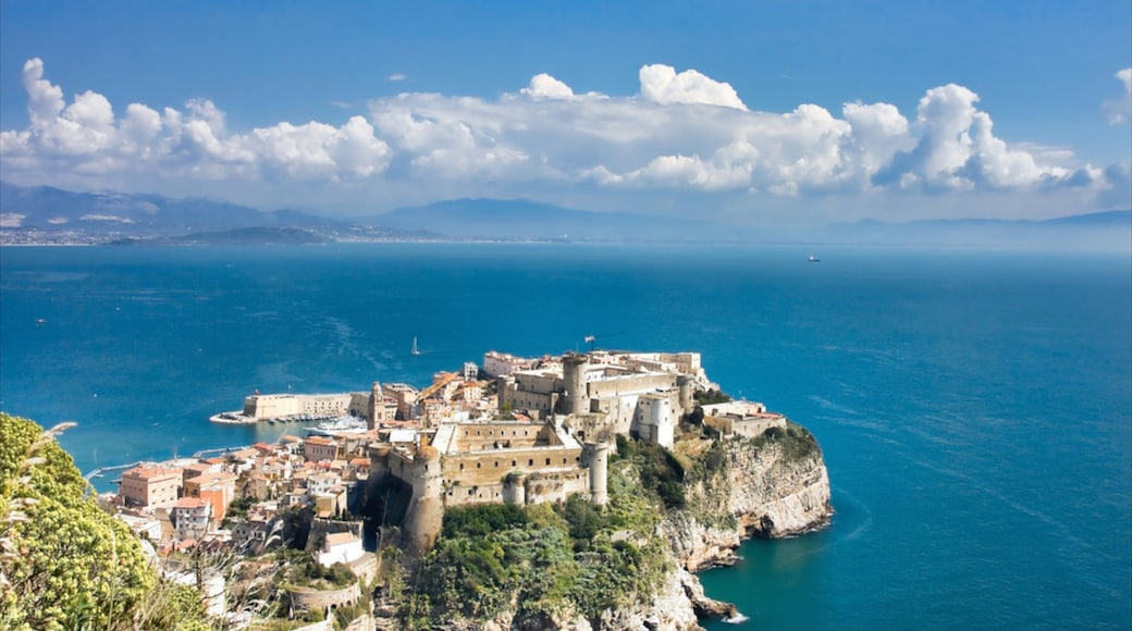 Gaeta which includes a coastal town, general coastal views and a city