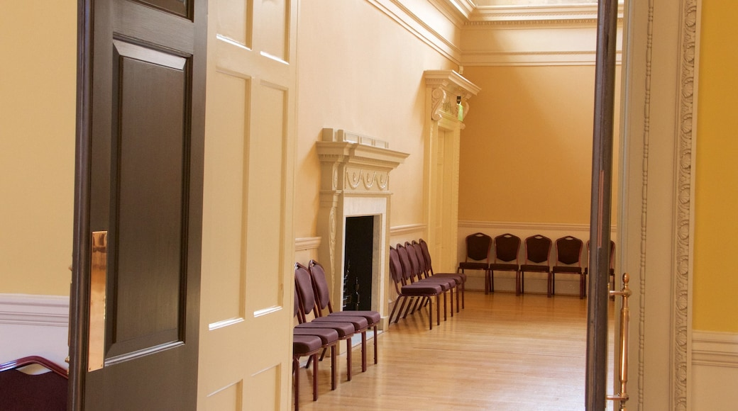 Bath Assembly Rooms showing heritage architecture and interior views