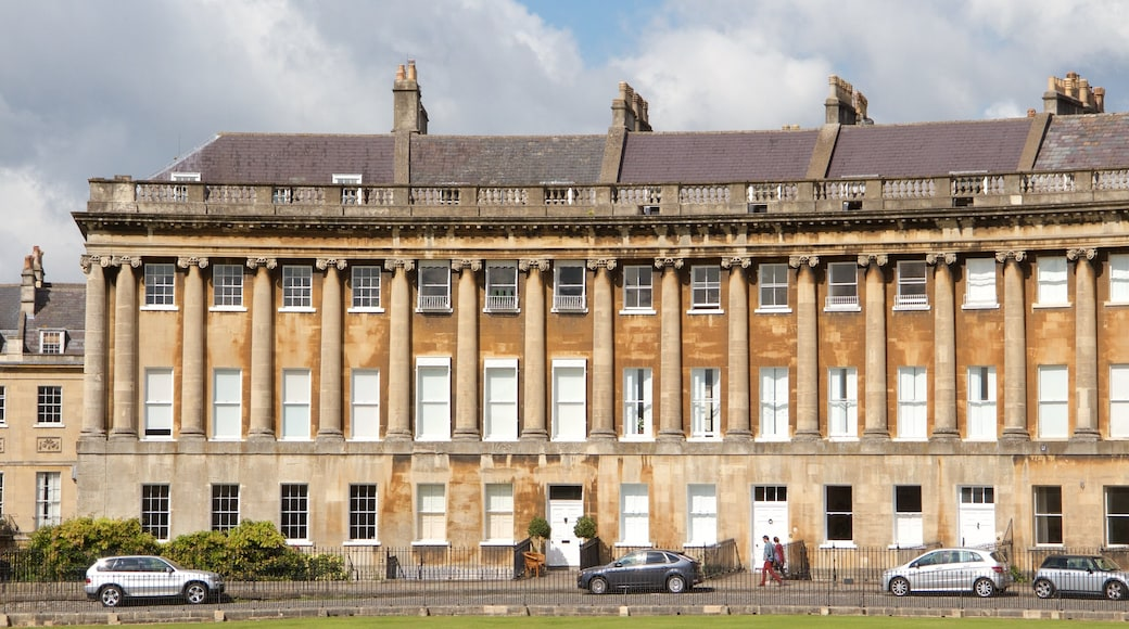 Royal Crescent showing heritage architecture