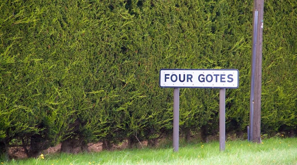 Cambridgeshire showing signage