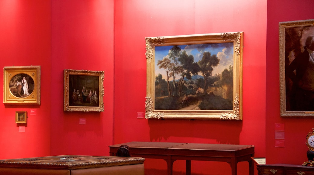 Fitzwilliam Museum which includes interior views and art