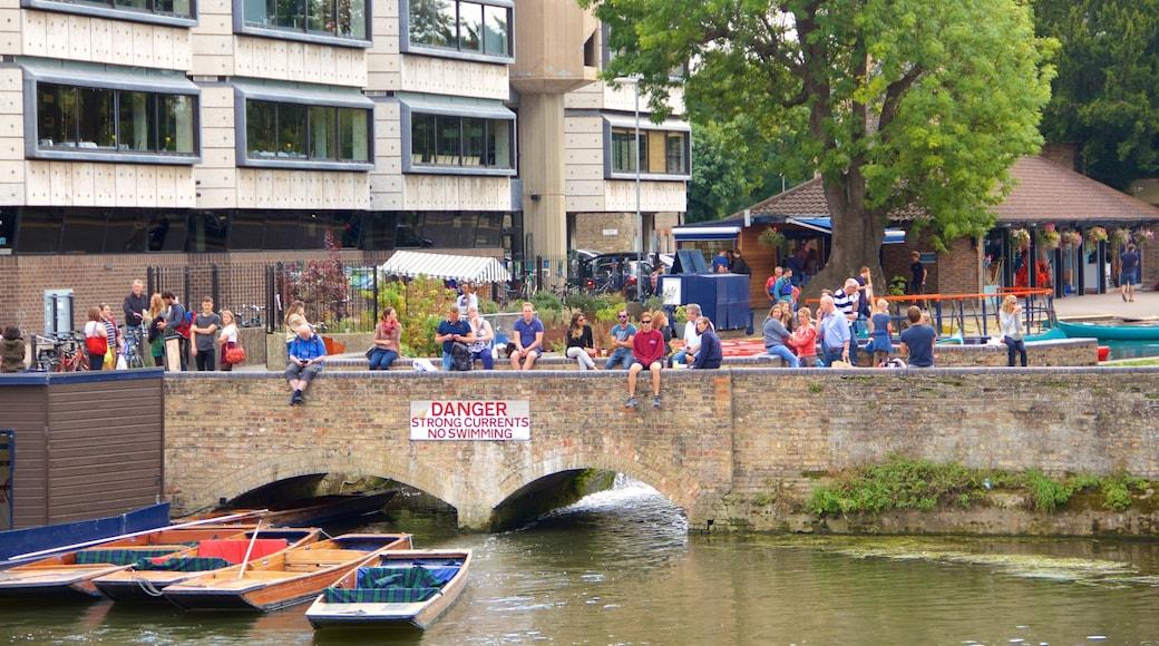 Cambridgeshire showing a bridge, a lake or waterhole and boating