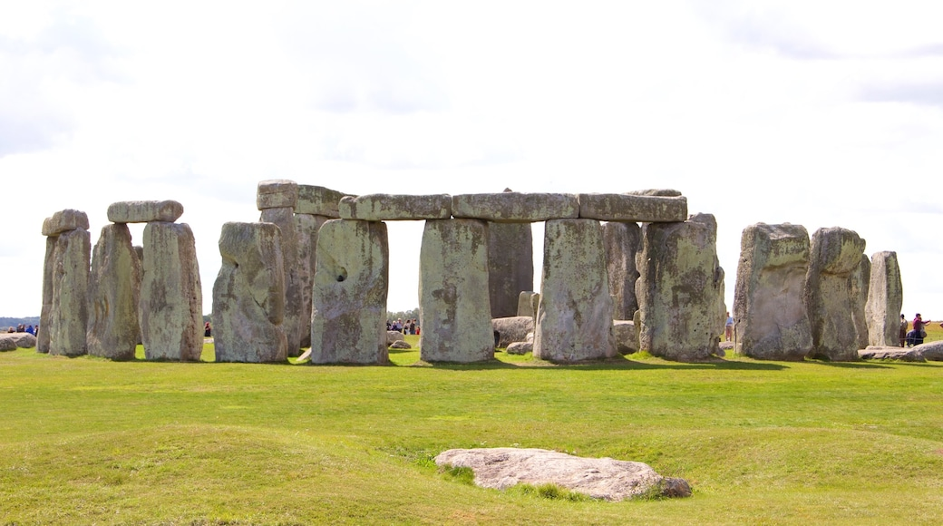 Stonehenge showing heritage elements
