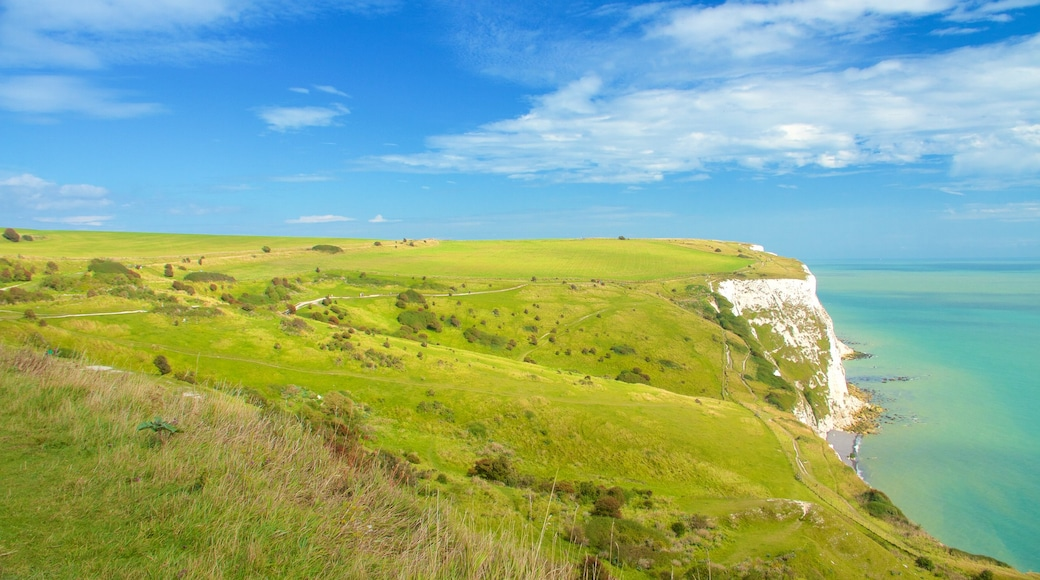 Dover fasiliteter samt kyst, rolig landskap og landskap