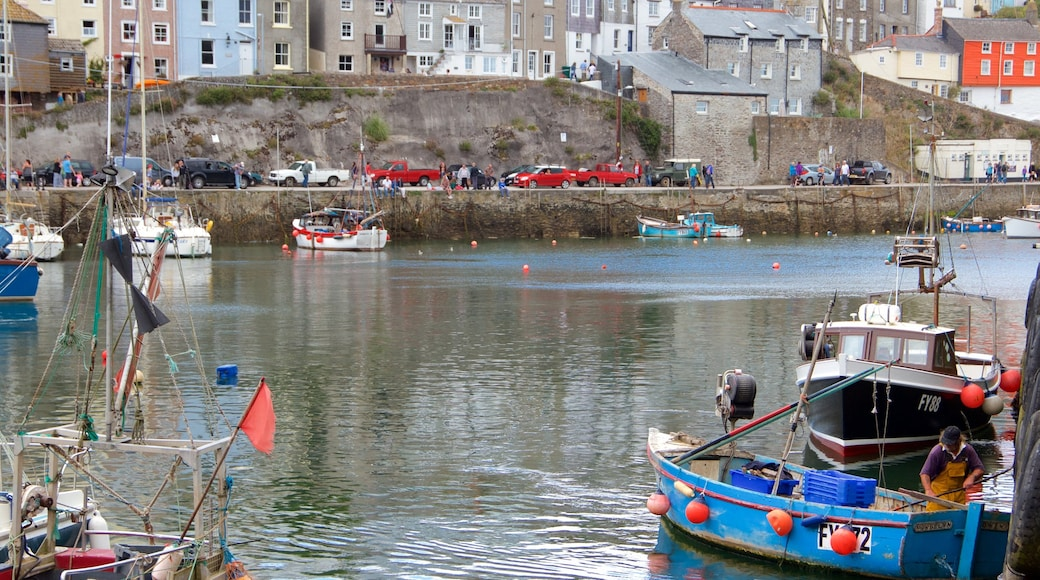 Mevagissey featuring a bay or harbour and boating