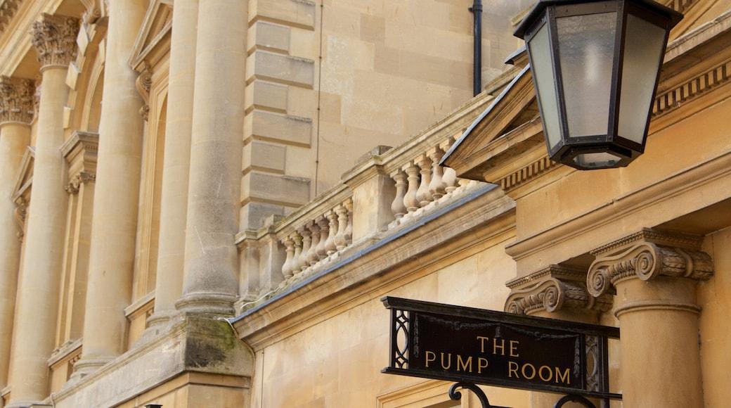 Roman Baths showing signage