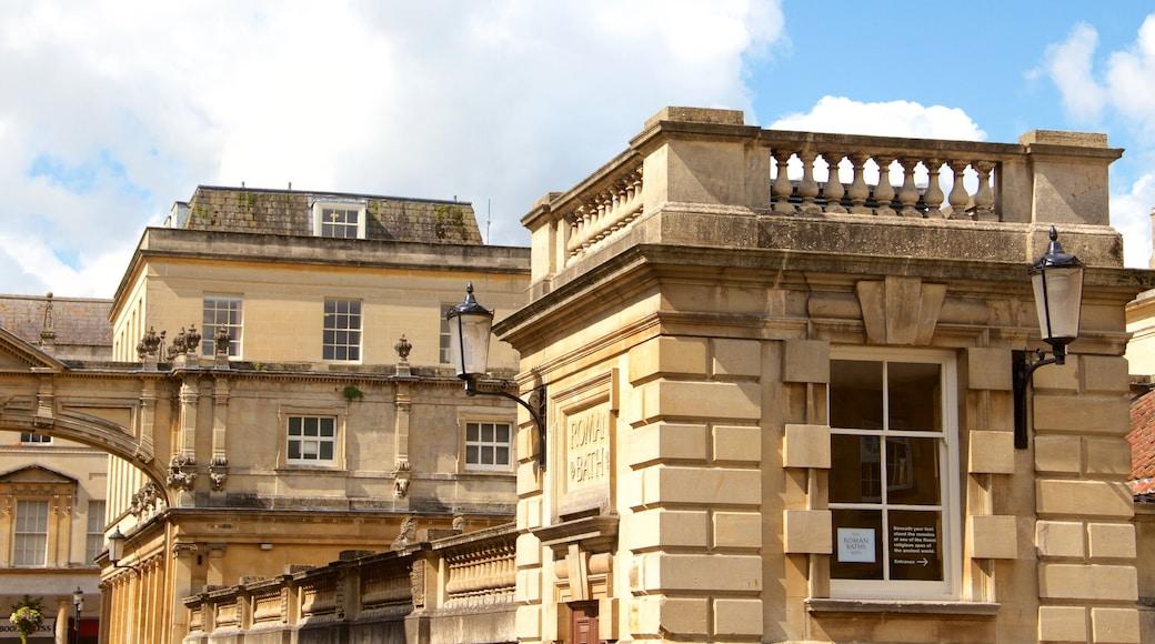 Roman Baths showing heritage architecture